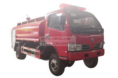 东风福瑞卡5吨四驱越野消防洒水车