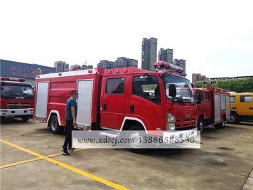 客户全款提五十铃700P水罐消防车
