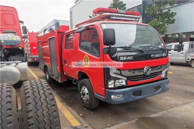 小型东风国六干粉水罐消防车