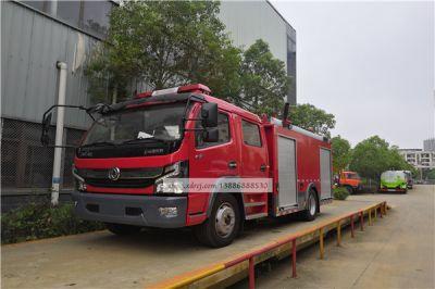 东风国六4吨小型水罐泡沫消防汽车称重检测