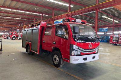 国六东风2.5吨水罐消防车发车